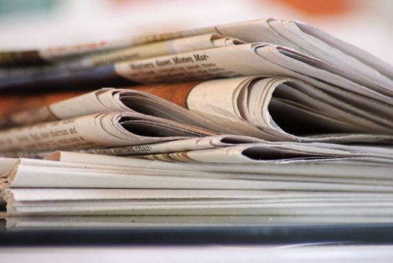 9846210 - stack of morning newspapers